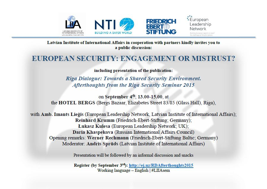 Updated 0409 1300 european security engagement or mistrust combined with presentation of our latest book riga dialogue towards a shared security environment stopboris Choice Image